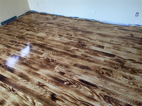 Floor A Wood Burnt Plywood Floor Houses Flooring Picture Ideas