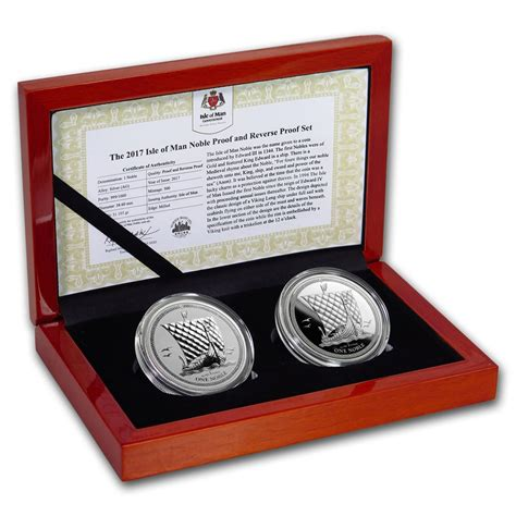 Perangko Australia Mint 4 Pcs 2017 1 oz isle of noble 999 silver proof 2 coin set lpm