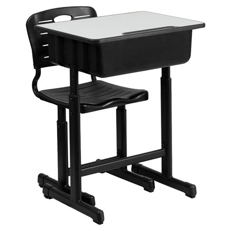 adjustable height desk and chair with black pedestal frame desk and chair adjustable height black pedestal