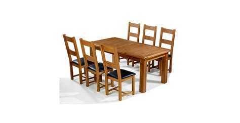 Oak Extending Dining Table And Chairs Emsworth Oak 180 250 Cm Extending Dining Table And 6 Chairs Lifestyle Furniture Uk