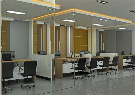 3d office interior design
