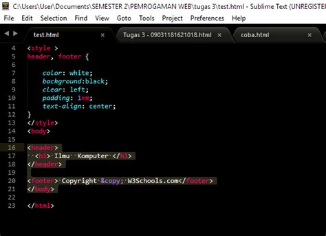 membuat website sederhana dengan sublime text cara membuat web dengan sublime text membuat halamamn web