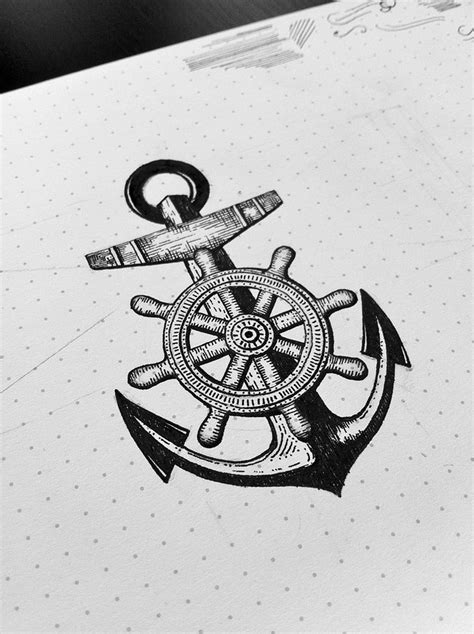 anchor and wheel tattoo designs 25 best ideas about anchor drawings on