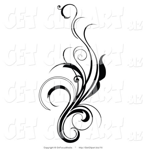 curly tattoo designs clip of an and curly black and white design