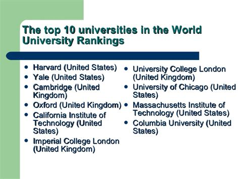 Top 10 Universities In The World For Mba In Finance by Universities For Expositon