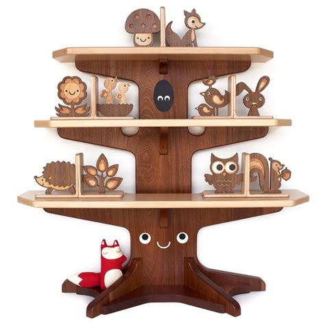 Animal Bookshelf happy tree bookshelf with 4 wood animal bookends