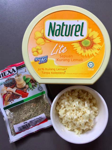 buat garlic spread  memang sedap