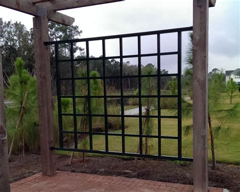 Aluminum Trellis Panels wood arbor 1 5 x 1 5 aluminum trellis panels barfield fence and fabrication