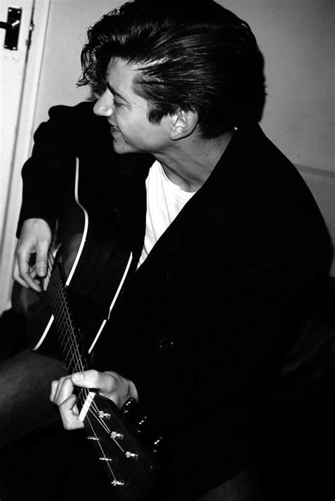 Arctic Monkeys White alex turner arctic monkeys black white guitar