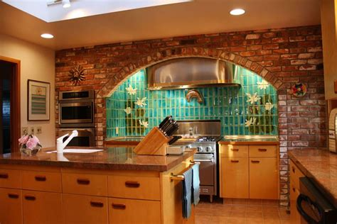 decorative ceramic wall tile backsplash with brick styled cabinet for superb outdoor kitchen 50 best kitchen backsplash ideas for 2017 throughout