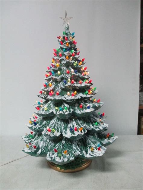 small ceramic light up christmas tree mini plastic lights for ceramic christmas tree