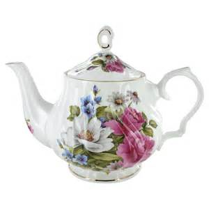 grace s rose bone china 5 cup teapot