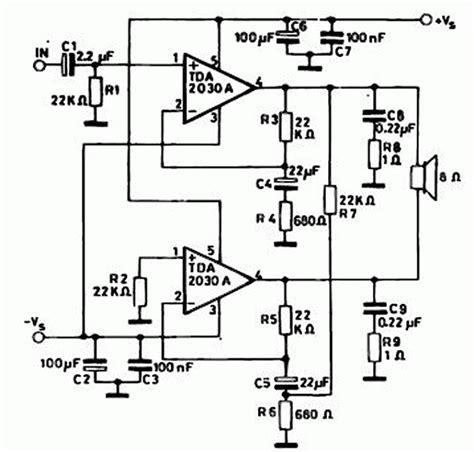 tda7265 lifier circuit diagram tda2030a power lifier schematic diagram stereo