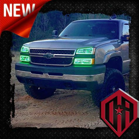 color changing led headlights 03 07 chevy silverado remote color change led halo