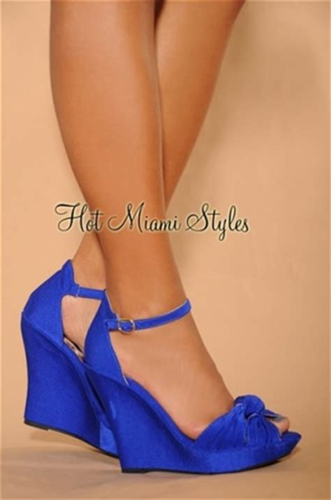Blue Wedge Sandals Wedding by Blue Or Dyeable Wedges With Ankle Weddingbee