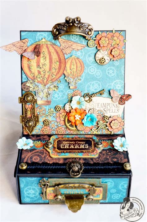 scrapbook layout easel graphic 45 steunk spells easel card box drawer
