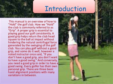 natural golf swing grip the golf grip instruction manual