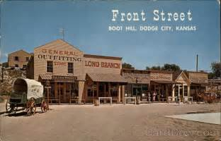 Restaurants In Dodge City Ks Front Replica Boot Hill Dodge City Ks