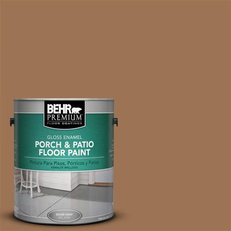 behr premium 1 gal s240 6 ranch brown gloss porch and