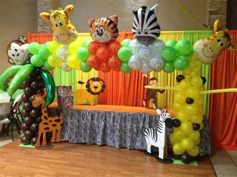 Jungle Theme Baby Shower Balloons by Safari Arch Balloon Archs Arco Con Globos