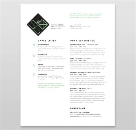 graphic design resume cover letter exles online