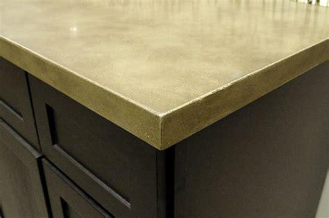 eased edge concrete countertop kitchen