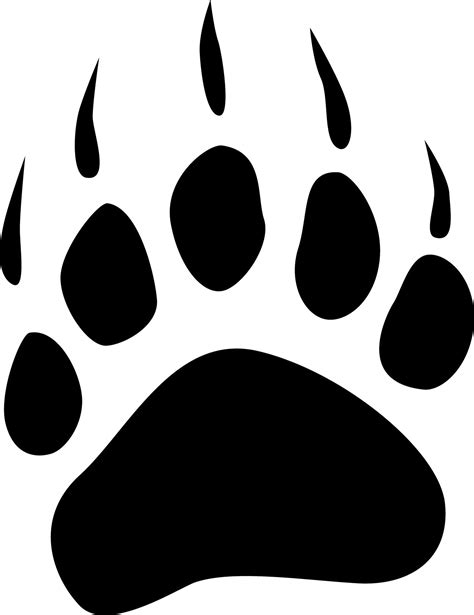 bear paw drawings clipart best