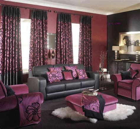 Black Living Room Curtains Ideas Brown Purple Living Room Home Houses Decoration Living Rooms