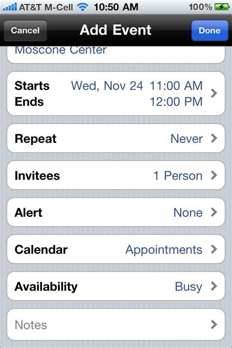 daily tip invite calendar event