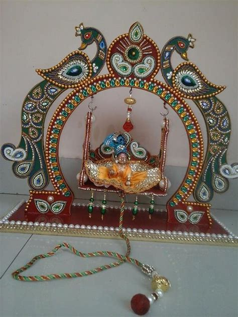 zula  kanha janmashtami decoration indian