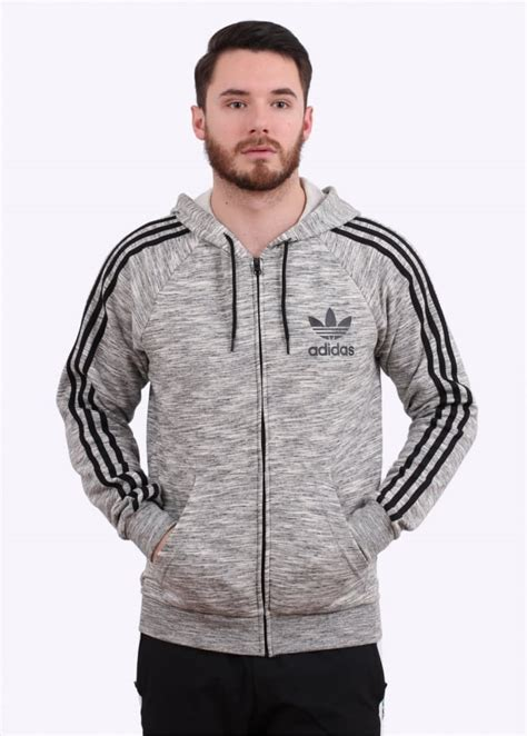 Adidas Grey Black 40 44 Kode Ss6573 adidas originals apparel zip hoody grey black