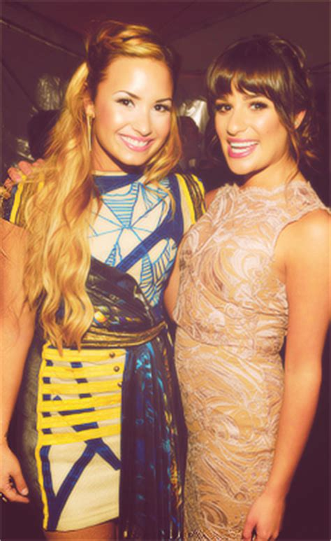 demi lovato and lea michele demi lovato lea michele girlfriends ooo saintdemi