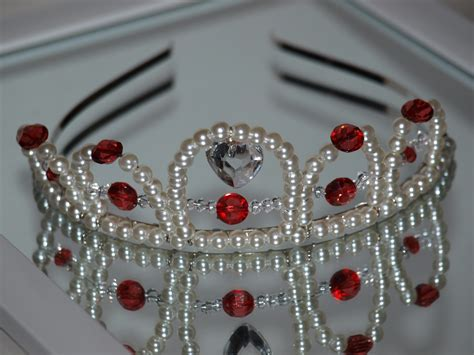 Handmade Tiaras - beaded tiara chestnut made