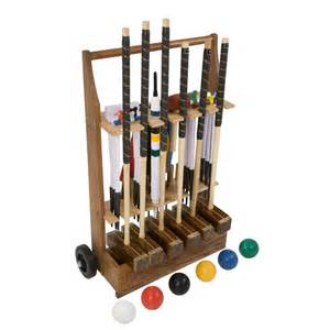 With Set by 6 Player Chionship Croquet Set By Uber A