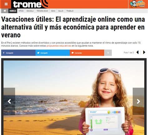 el trome diario peruano trome per 250 matem 225 ticas online para aprender en verano