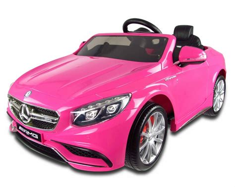 pink mercedes 12v pink mercedes s63 amg kids electric car