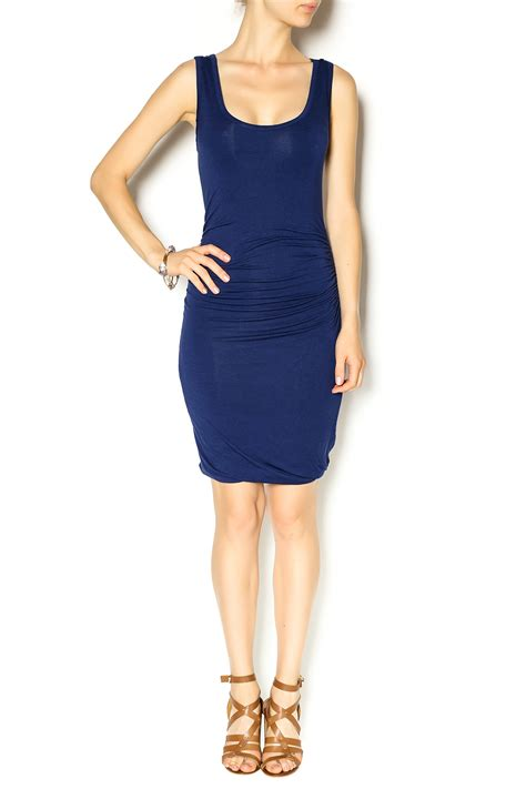 glam navy jersey dress from new york city by bazaar 224 gogo shoptiques