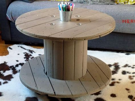 Table En Bobine De Cable by Table Bobine Bois Wraste
