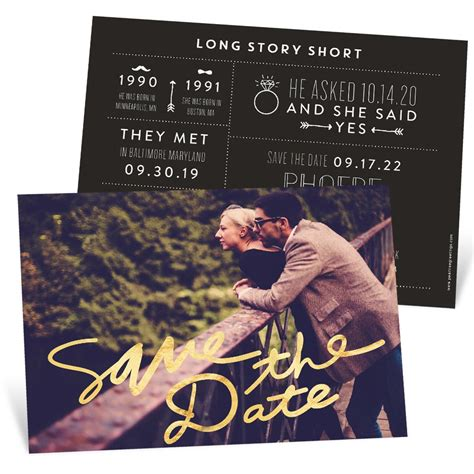 Save The Date Cards by Bold Foil Save The Date Cards Pear Tree