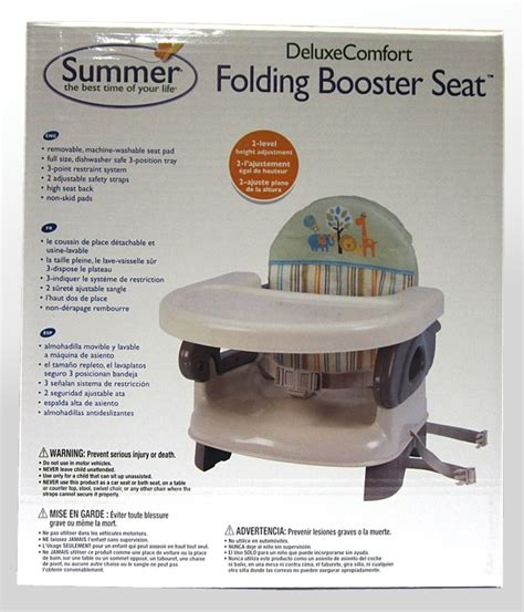 Summer Deluxe Comfort Folding Booster Seat Elephant summer infant deluxe comfort booster seat highchairs