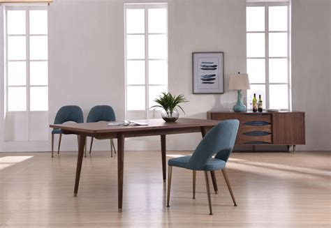 modrest gloria modern walnut dining table dining tables
