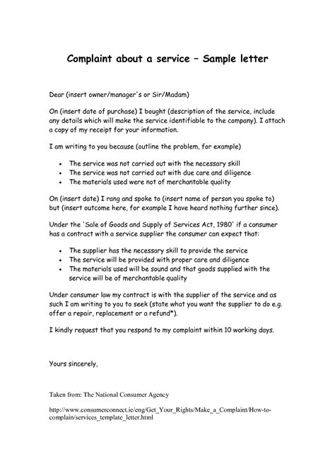 Complaint Letter Format For Wrong Delivery brilliant ideas of sle complaint letter restaurant bad