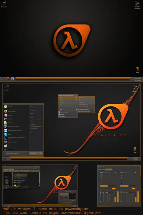 themes games win 8 half life theme for win7 skinpack customize your