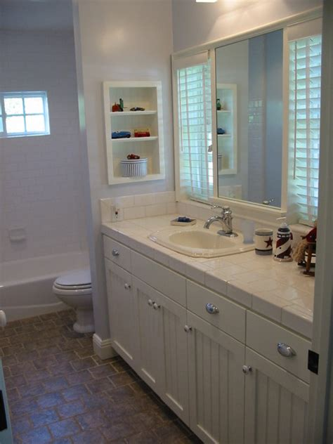 Bathroom Wall Beadboard Blue And White Beadboard Bath Style