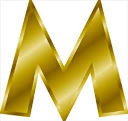 to m free gold letter m clipart free clipart graphics images