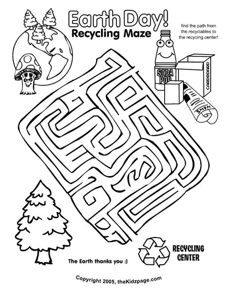 printable science maze earth day recycling maze activity sheet free coloring