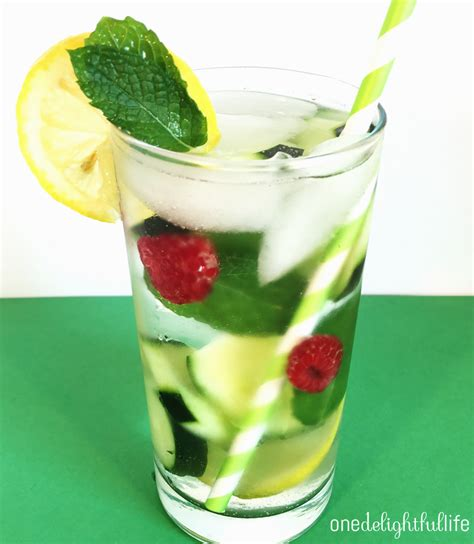 Detox Cucumber Mint Water by Cucumber Mint Raspberry Detox Water Onedelightfullife