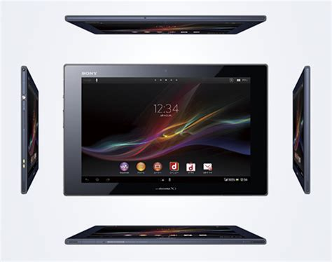 Tablet Sony Xperia Z Di Malaysia sony mostra android 4 3 su xperia tablet z