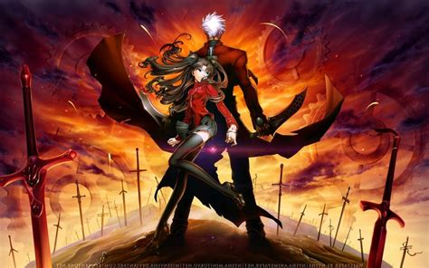 desktop themes unlimited fate stay night unlimited blade works windows 10 theme