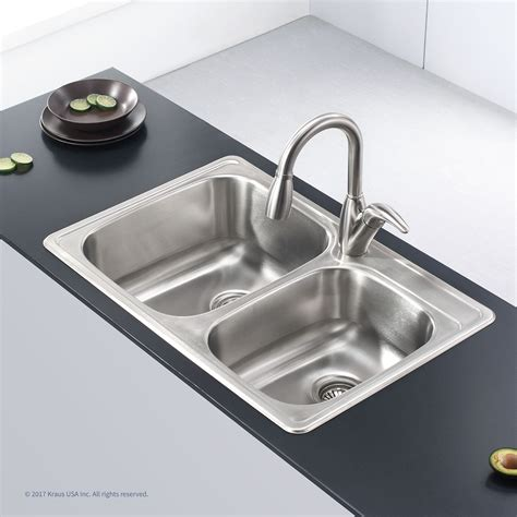 Steel Kitchen Sink Stainless Steel Kitchen Sinks Kraususa